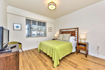 Queen Bed With Flat Screen TV; Access to Bathroom From Room;