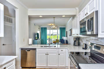 Fully Stocked Kitchen with Luxury Appliances; Granite Counter-tops and New Cabinetry! Totally Refurbished in 2017!