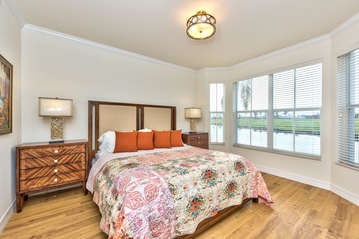 Master Bedroom with King Bed and Flat Screen TV; Private Entrance To Lanai Area;