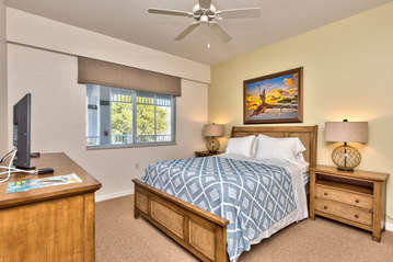 Queen Bedroom With Attached Bathroom; HDTV;