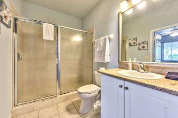 2nd Bathroom; Walk in Shower!