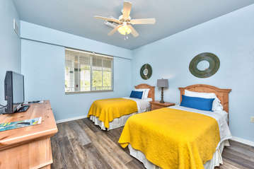 Twins Beds With Flat Screen TV; Access to Bathroom From Room;