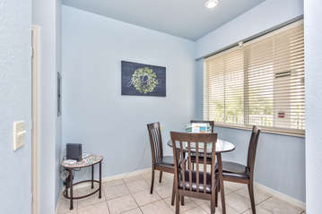 Dining Room with Seating for 4; All New Decor and Furnishings in 2018!