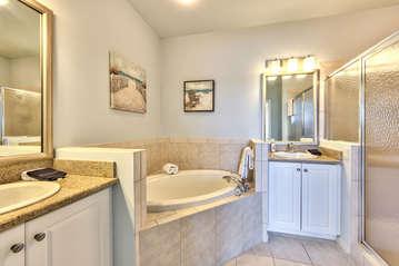 Master Bathroom with 2 Vanities;