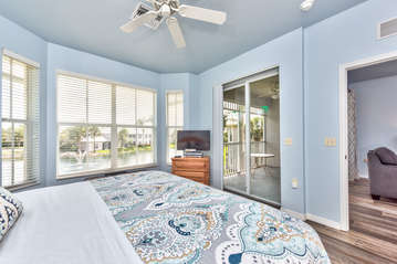 Master Bedroom with King Bed and Flat Screen TV; Private