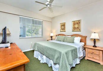King Bed With Flat Screen TV; Bathroom Is Attached;