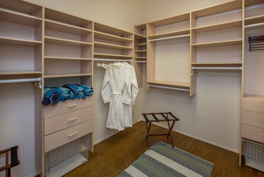 Plenty of room in the Master walk-in closet!