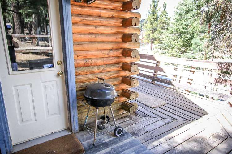 Charcoal BBQ Outside on Side Deck off Kitchen