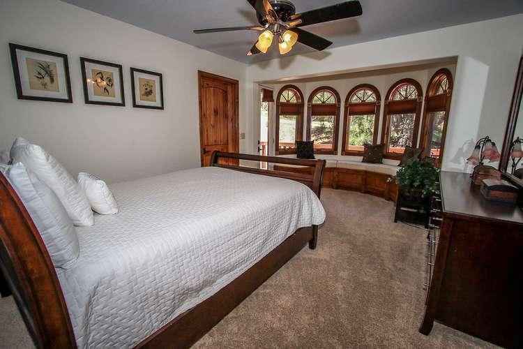 Bedroom 2: Master Suite- Queen Bed, Private Black Marble Bath