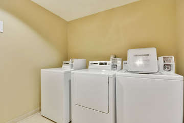 Washer and Dryer Located on the 3rd floor, quarter system, detergent and dryer sheets available for purchase on site.
