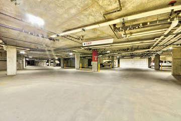 Underground Heated parking garage, free parking in the non-ski season