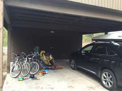 Carport with plenty of toys for everyone