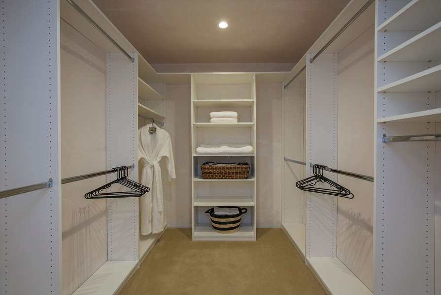 Master closet fit for a king…and queen!