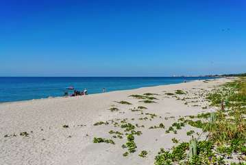 View of the beach at Fisherman's Cove at Turtle Beach on Siesta Key - off of Sarasota FL