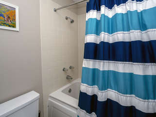 There is a shower/tub for your use.