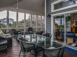 Screened porch access from great room