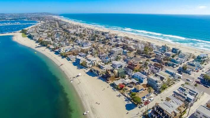 Aerial of Mission Beach