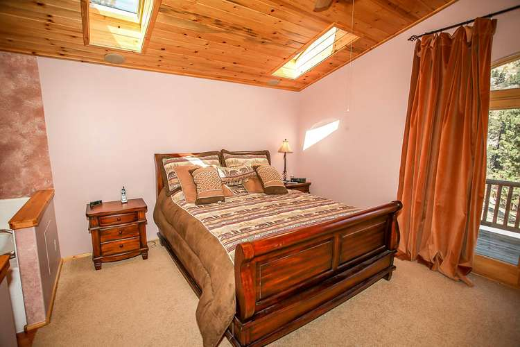 Bedroom 1- Master Suite- King Bed, Private Bath, Private Deck