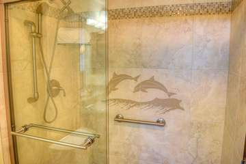 Incredible detail in master bath shower