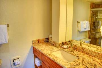 Remodeled guest bathroom