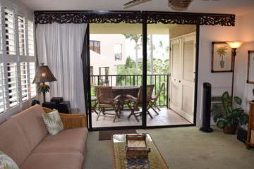 View of the lanai off of living room