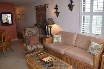 Comfortable living area furniture
