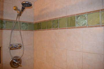 Second bathroom tiled shower