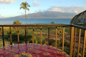 Incredible private lanai with ocean views