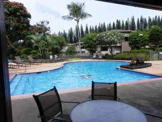Main pool,(1 of 4);This villa is in the building shown just right of the center