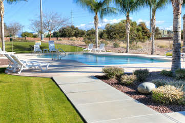 A short walk from home is community pool (not heated) offering year round refreshing dips