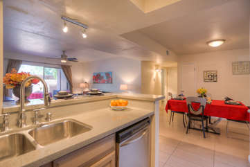 Floor plan is open and bright with comfortable living spaces