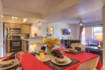 Trey ceilings and attractive decor add charm and appeal to home