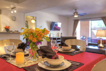 Inviting spaces for delectable meals and special moments with friends or family
