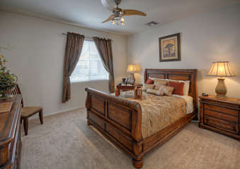 Fourth bedroom with queen bed is on first floor