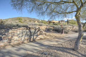 Casita is located in upscale neighborhood with million dollar homes and access to Hawes Loop Trail