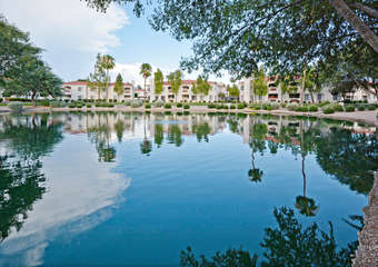 Splendid seasonal lake views in the gated Superstition Lakes development