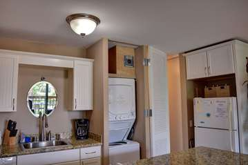 Kitchen with private washer and dryer