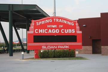 Baseball fans will be delighted to know they are close to Riverview Park, home of the Cubs MLB spring training