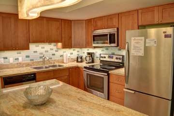 Fully stocked remodeled kitchen