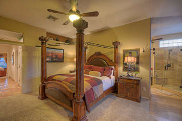 Elegant master suite with large TV is ready for YOU!
