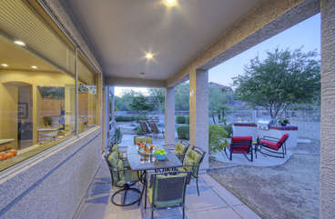 New patio furniture has been added for outdoor relaxation and comfortable dining experiences