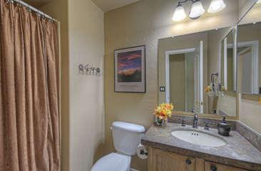First floor bathroom has walk-in shower