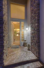 Chic entrance to sensational home in quiet, gated community