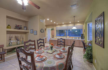 Entertain friends and family in dining room with seating for 8