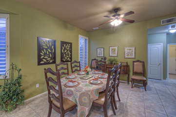 Lovely open eating area for formal or casual dining