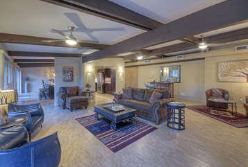 Open floorplan highlights rustic yet elegant appeal of premium home