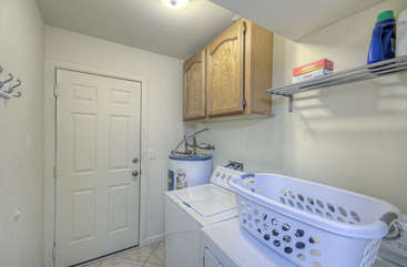 Well equipped laundry room helps you keep your wardrobe clean and ready for the next adventure