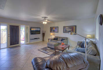 Newly remodeled townhome is furnished to be stylish and comfortable