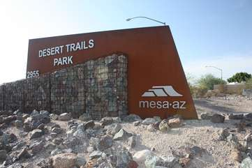 Miles of biking trails in North East Mesa