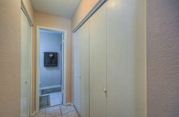Ample closet space in east master bedroom